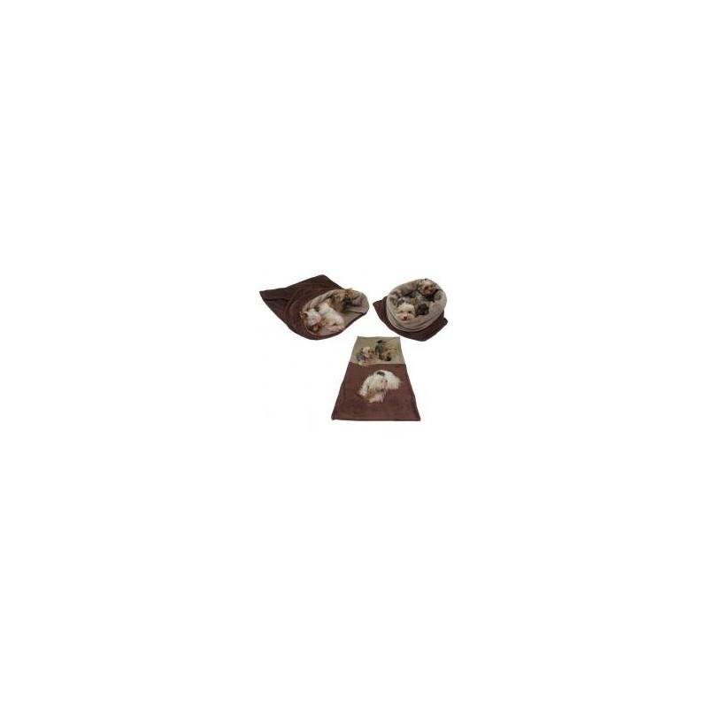 Marysa pelíšek 3v1 pro psy, tmavě hnědý/béžový, velikost XXL