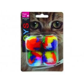 Hračka MAGIC CAT míček plyšový 3,75 cm 4ks