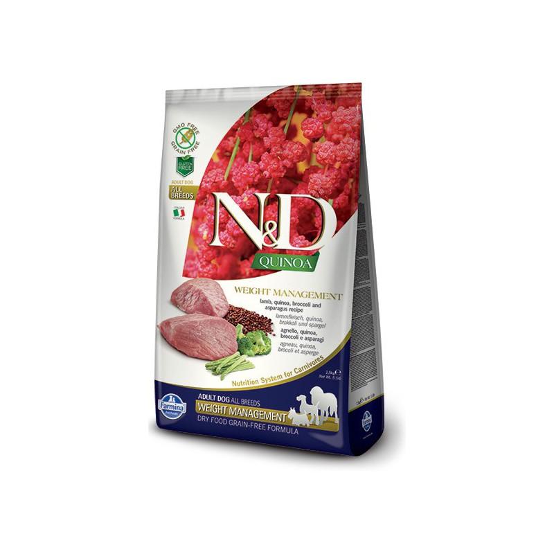 Farmina Pet Foods - N&D N&D GF Quinoa DOG Weight Mnmgnt Lamb & Broccoli 2,5 kg