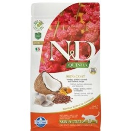 N&D GF Quinoa CAT Skin&Coat Herring & Coconut 1,5 kg