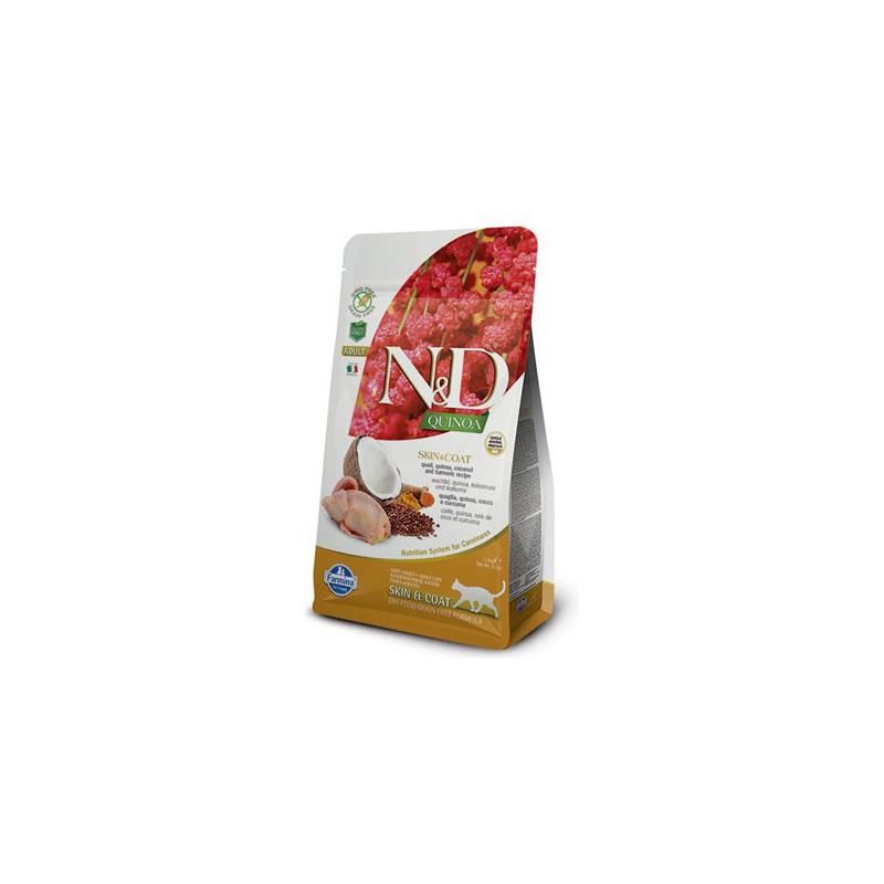 Farmina Pet Foods - N&D N&D GF Quinoa CAT Skin&Coat Quail & Coconut 300 g