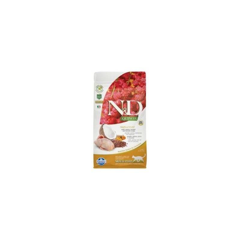 Farmina Pet Foods - N&D N&D GF Quinoa CAT Skin&Coat Quail & Coconut 1,5 kg