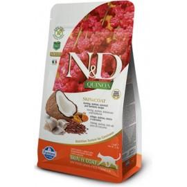 N&D GF Quinoa CAT Skin&Coat Herring & Coconut 300 g