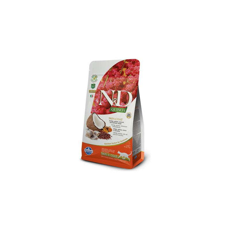 Farmina Pet Foods - N&D N&D GF Quinoa CAT Skin&Coat Herring & Coconut 300 g