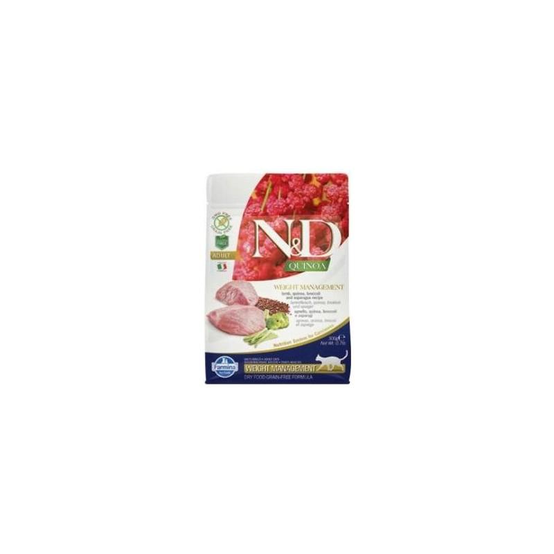 Farmina Pet Foods - N&D N&D GF Quinoa CAT Weight Mngmnt Lamb & Broccoli 300 g