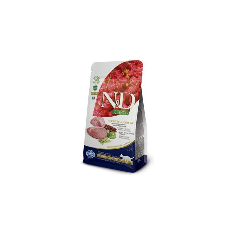 Farmina Pet Foods - N&D N&D GF Quinoa CAT Weight Mngmnt Lamb & Broccoli 1,5 kg