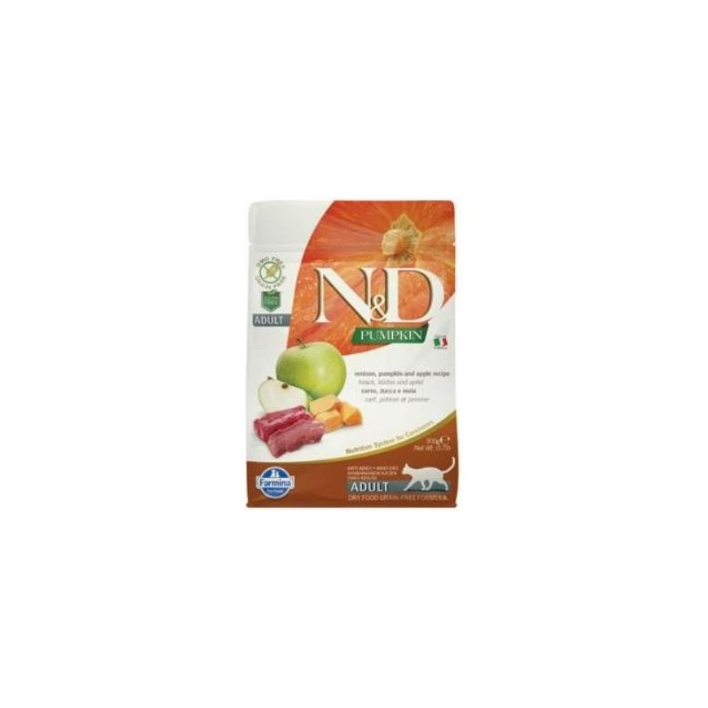Farmina Pet Foods - N&D N&D GF Pumpkin CAT Venison & Apple 300 g