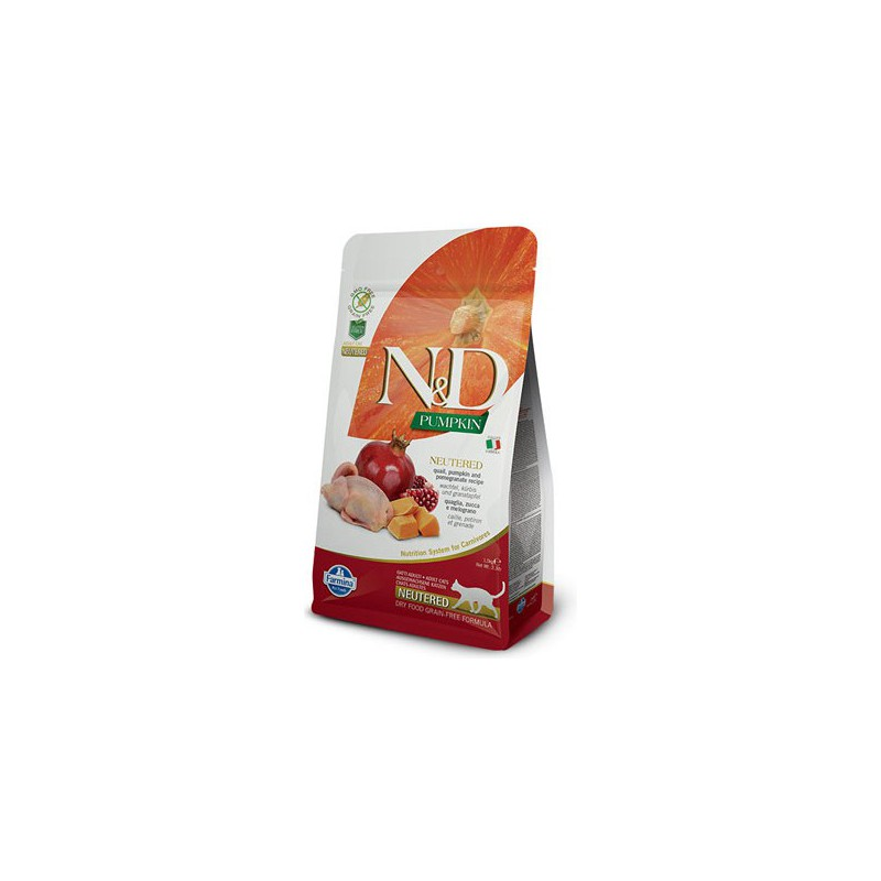 Farmina Pet Foods - N&D N&D GF Pumpkin CAT NEUTERED Quail & Pomegranate 1,5 kg