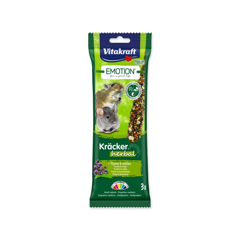 VITAKRAFTCHOVEX Tyčinky VITAKRAFT Emotion Kracker Herbal pro malé hlodavce 75g