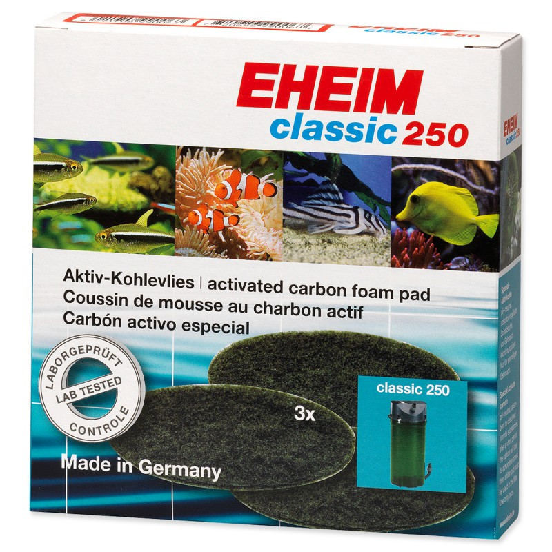 Náplň EHEIM molitan uhlíkový jemný Classic 250 3ks