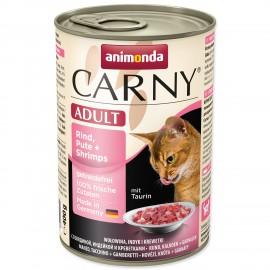 Konzerva ANIMONDA Carny Adult hovězí, krůtí + krevety 400g