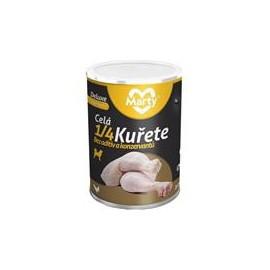 MARTY konz. pro psy DeLuxe-celá 1/4 kuřete 400 g