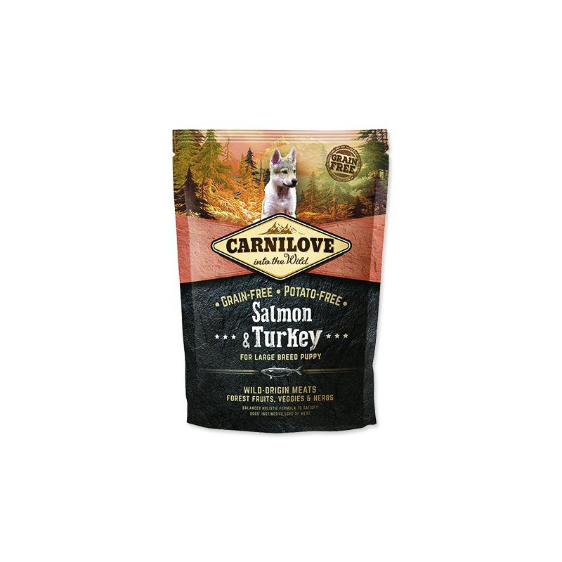 BRIT Dry Dog Carnilove CARNILOVE Salmon & Turkey for Large Breed Puppy 1,5kg