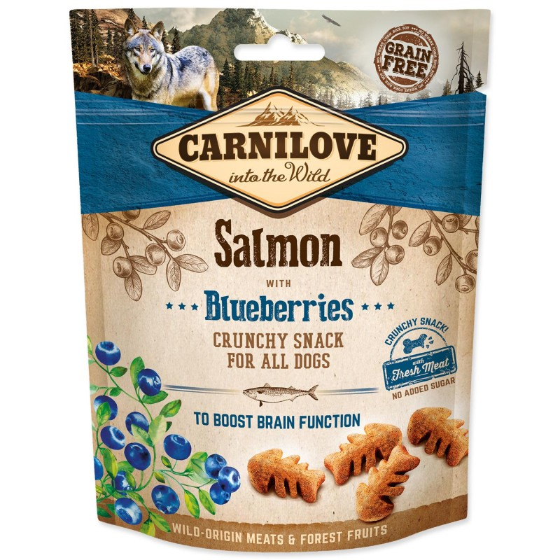 BRIT Carnilove Snack Carnilove Dog Crunchy Snack Salmon with Blueberries with fresh meat 200 g