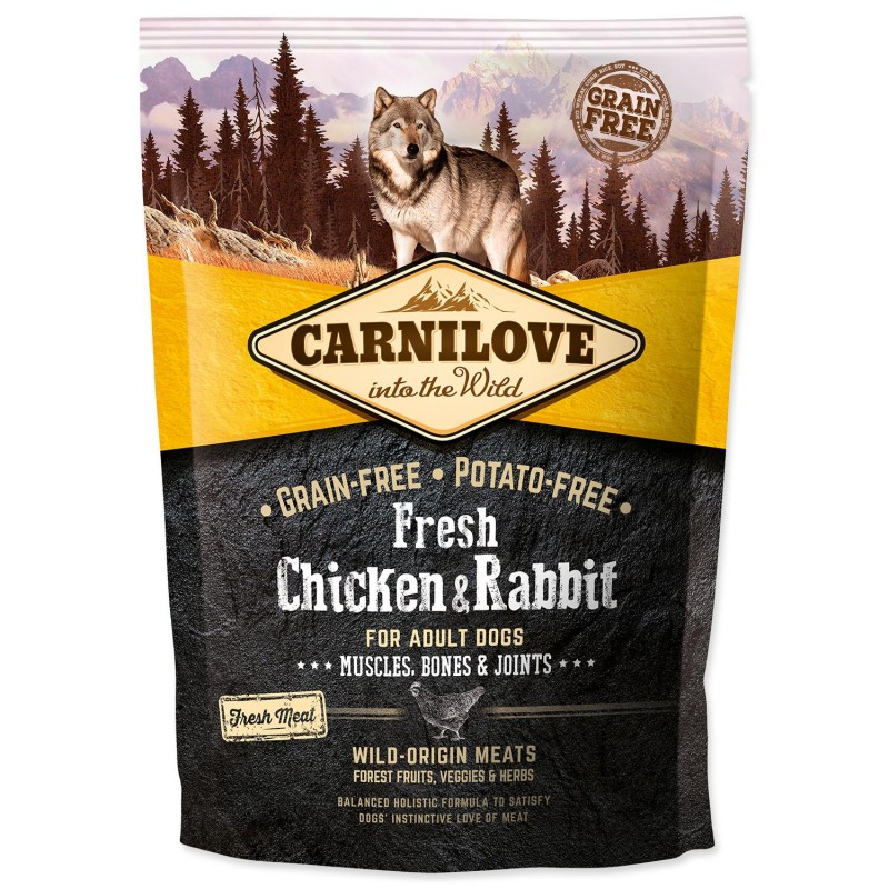 BRIT Dry Dog Carnilove Carnilove Fresh Chicken & Rabbit Muscles, Bones & Joints for Adult dogs 1,5 kg
