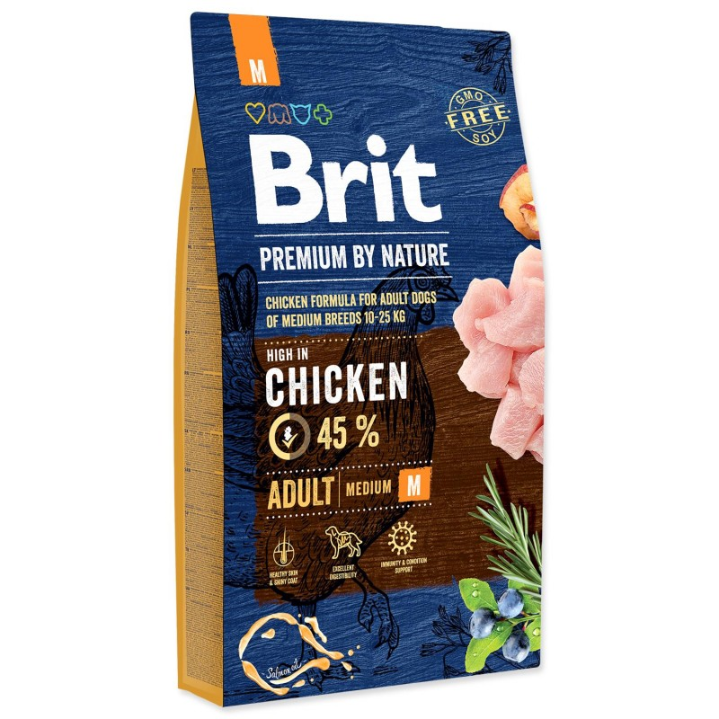 BRIT Dry Dog Premium BRIT Premium by Nature Adult M 8 kg