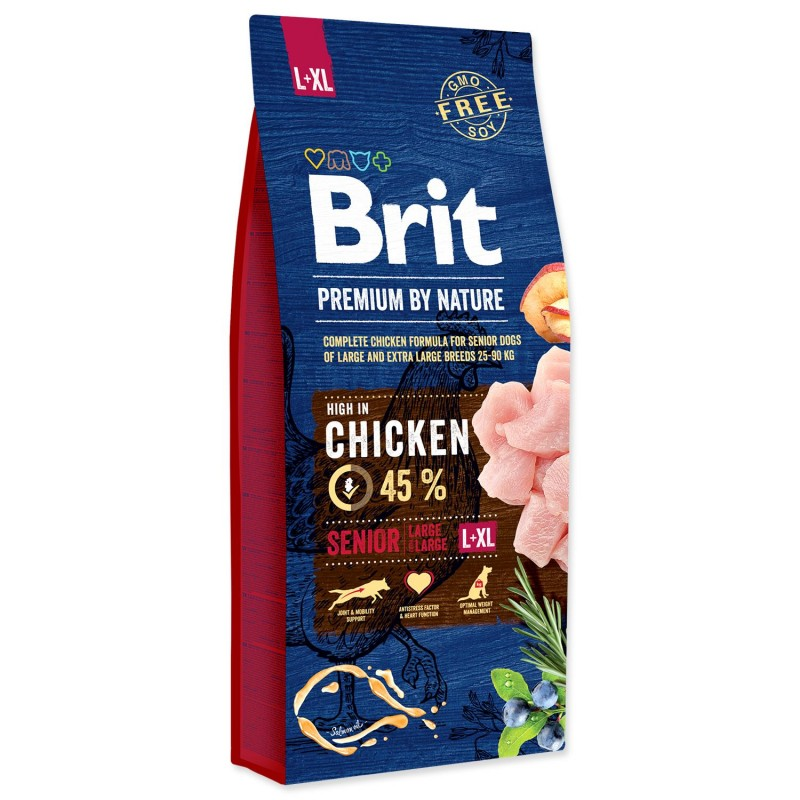 BRIT Dry Dog Premium BRIT Premium by Nature Senior L+XL 15kg