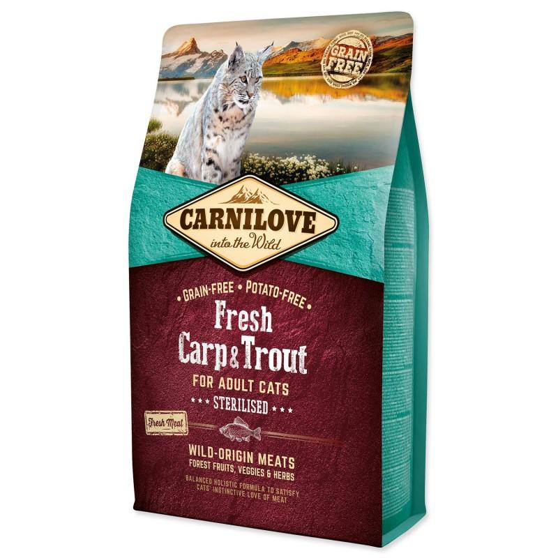 BRIT Dry Cat Carnilove CARNILOVE Fresh Carp & Trout Sterilised for Adult cats 2kg