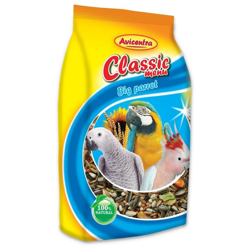 Avicentra AVICENTRA standart krmivo pro velké papoušky 1kg