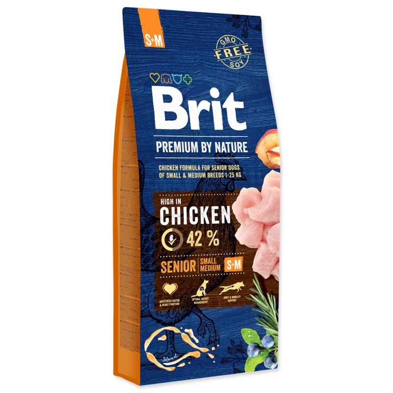 BRIT Dry Dog Premium BRIT Premium by Nature Senior S+M 15kg