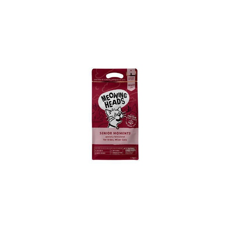 Meowing Heads MEOWING HEADS Senior Moments NEW 1,5kg