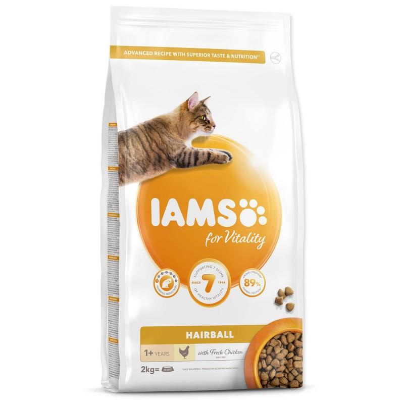 EUKANUBA - IAMS IAMS Cat Adult Hairball Chicken 2kg