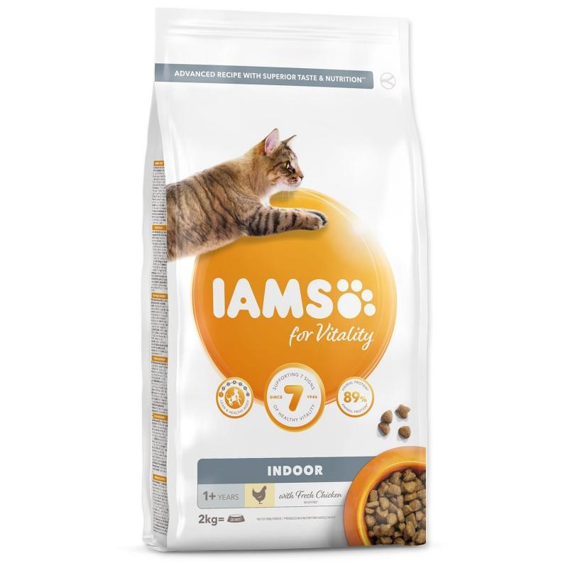 EUKANUBA - IAMS IAMS for Vitality Indoor Cat Food with Fresh Chicken 2kg