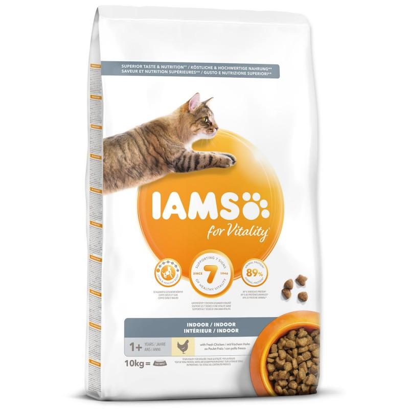 EUKANUBA - IAMS IAMS for Vitality Indoor Cat Food with Fresh Chicken 10kg