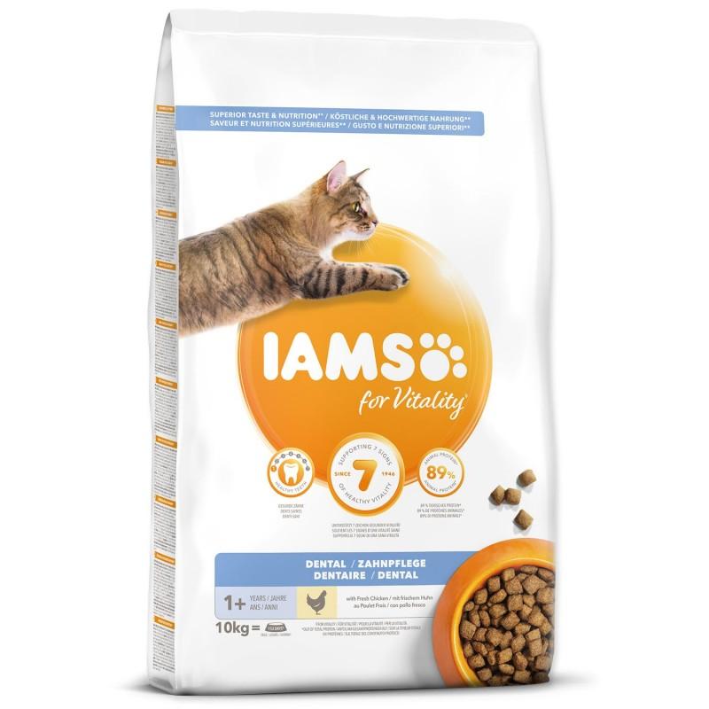 EUKANUBA - IAMS IAMS for Vitality Dental Cat Food with Fresh Chicken 10kg