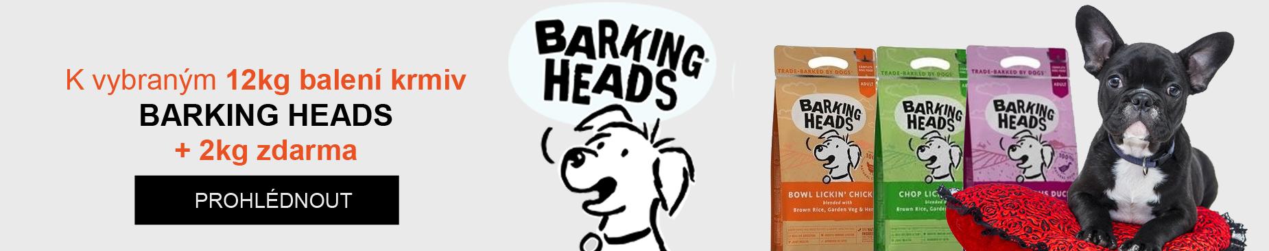 K vybraným 12 kg balení krmiv barking heads 2kg zdarma
